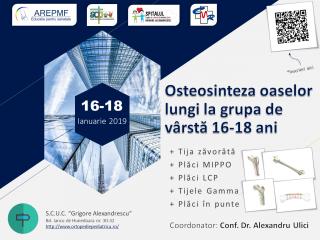 Osteosinteza oaselor lungi la grupa de varsta 16-18 ani